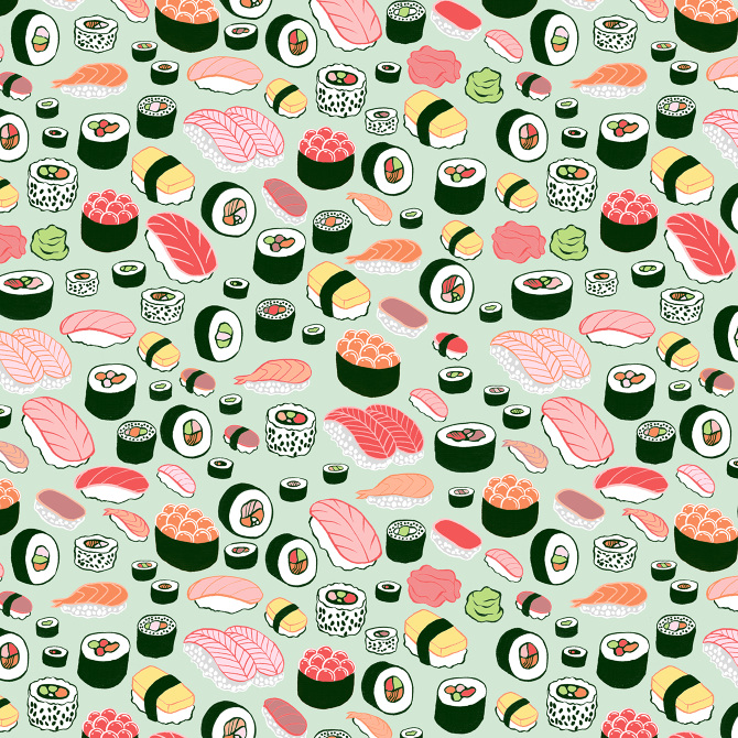 sushi love - kristin nohe juchs | surface design ...